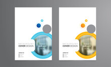 Background Cover Design Templates For Brochure, Magazine, Flyer, Booklet, Annual Report. Creative Modern Bright Background With Colorful Circles And Round Shapes