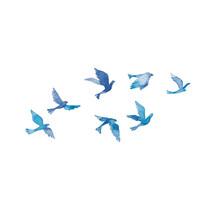 青い鳥の群れ