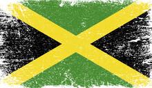 Jamaica Flag With Grunge Texture