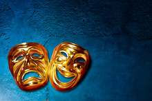 Theatrical Masks Of Comedy And Tragedy