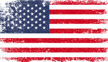 United States Of America Flag With Grunge Texture