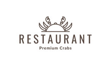 Crab Lines Movable Food Cover Logo Vector Icon Illustration Design