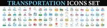 Transportation Icons Design Elements. Road Transport Icons, Transportation Vector Icon.