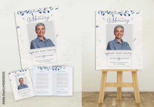 Funeral, Blue Print Set