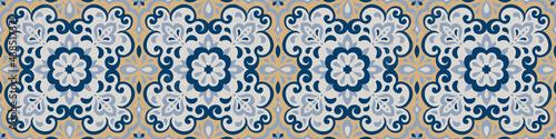 Azulejos ceramic tile design Fototapet