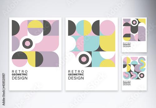 Retro Geometric Design Pattern Cover