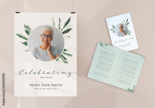 Funeral Program and Poster Layout