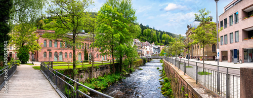 Fotografia City centre of Bad Wildbad in the Black Forest, Germany