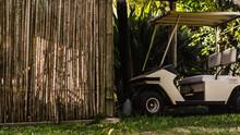 Parked Golf Cart