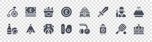 England Glyph Icons On Transparent Background. Quality Vector Set Such As Crown, Big Ben, English Breakfast, Beer, Guard, Fish, Royal Albert Hall, Money