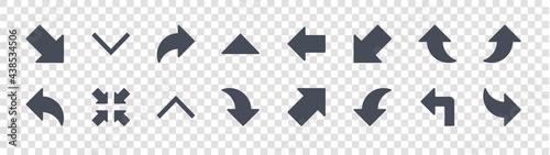 Slika na platnu arrow glyph icons on transparent background