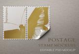 Editable Postage Stamp Mockup