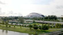 Singapore Sports Hub Former National Stadium In Kallang, Singapore. - Aerial