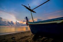 Boat Dock In Twilight