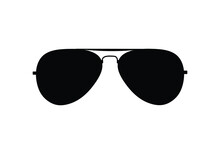 Aviator Sunglasses Or Shades Protective Eyewear Flat Vector Isolated. Cool Summer Protection Eye Glasses. Stylish Eye Wear.