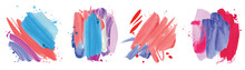 Absract Design Watercolor Brush Strokes Composition Hand Drown