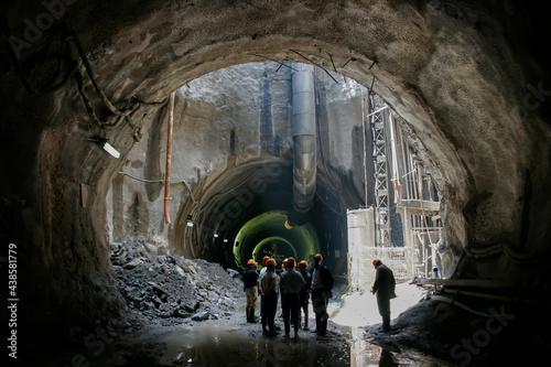 Carta da parati Sao Paulo subway construction tunnel