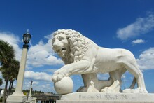 Statue Of The Lion In St Augustine City, Florida