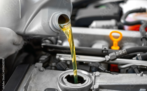 Photo Fresh motor oil