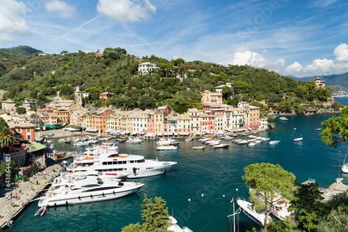 Yacht harbour in Portofino, Genoa, Italy #438644321