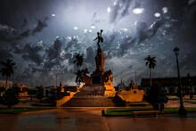 Plaza De Armas De Trujillo Vista De Noche, Trujillo Main Square Seen At Night