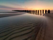 View Of The Beach On The Baltic Sea, Chałupy, Hel Peninsula, Poland