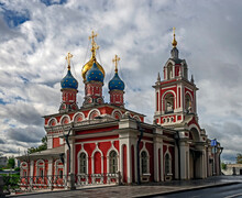 St. George And Protection Of The Virgin Church In Moscow, Russia. Year Of Construction - 1657, Bell Tower - 1810