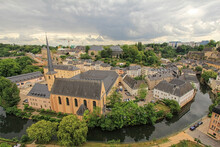 Ancient Town In Central Luxembourg, Dominated By The Partly Ruined Larochette Castle