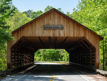 This Is A Covered Bridge In Conyers, Georgia.