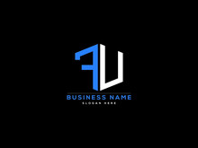 Letter FU Logo, Creative Fu Logo Icon Vector For Business
