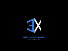 Letter EX Logo, Creative Ex Logo Icon Vector For Business