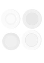 Home Classic Plates Vector Illustration Set Svg Transpaent Background