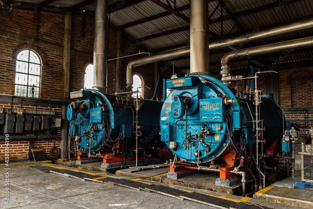 Fotografie, Obraz steam locomotive in the factory