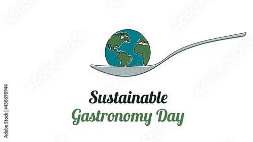 Stampa su Tela Sustainable Gastronomy Day June 18