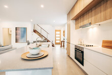 Open Plan Kitchen And Living Room Inside Modern Home