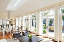 Modern Farmhouse Interior With Windows