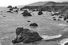 Rocks And Islands Along The Coast Of Sonoma County, Calfornia
