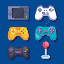 Videogame Controls Icon Group