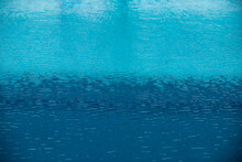 Background Of Water, Surface Blue Swimming Pool.