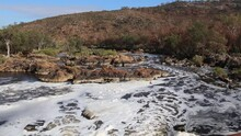 Swan River At Bells Rapids Perth Hills - Whitewater Flowing Past Rocks