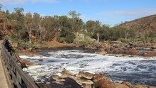 Bells Rapids Perth, View From Wooden Bridge - Swan River Flowing Fast