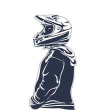 Rider Inking Illustration Artwork