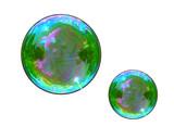 Fototapeta Rainbow - kolory tęczy na bańce mydlanej