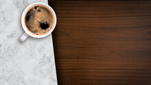 Close-up Of Iced Coffee Served On Black Table At Cafe