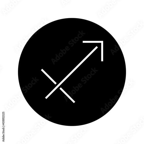 Stampa su Tela sagittarius zodiac icon vector isolated on white background