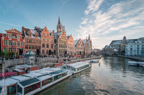 Fototapeta La belle ville de Gand