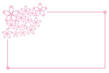 桜のグラフィック