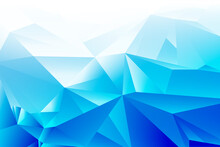 Abstract Blue White Geometric Poly Triangle Shape Background