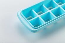 Silicone Ice Cube Tray Isolated On White Background.