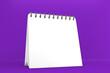 Leinwandbild Motiv white calendar on purple background.3D rendering
